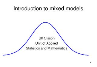 Introduction to mixed models