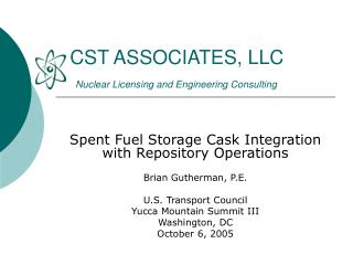 CST ASSOCIATES, LLC  Nuclear Licensing and Engineering Consulting