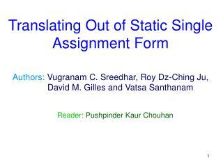 Reader:  Pushpinder Kaur Chouhan