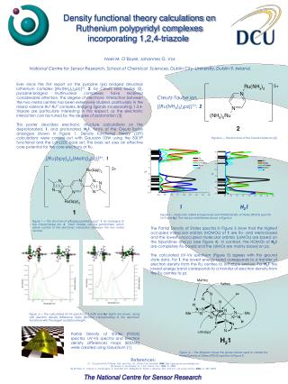 Density functional theory calculations on Ruthenium polypyridyl complexes