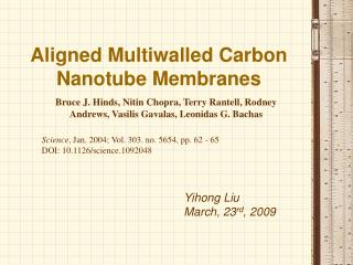 Aligned Multiwalled Carbon Nanotube Membranes