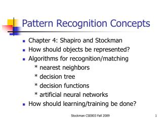 Pattern Recognition Concepts