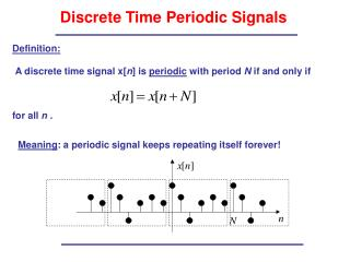 Discrete Time Periodic Signals