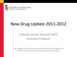 New Drug Update 2011-2012