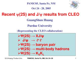 Recent   (2S) and J/   results from CLEO