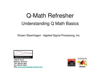 Q-Math Refresher