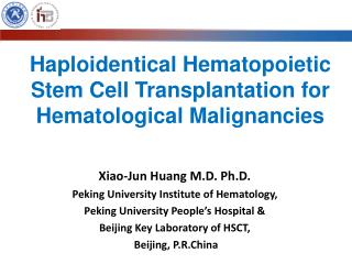 Haploidentical Hematopoietic Stem Cell Transplantation for Hematological Malignancies
