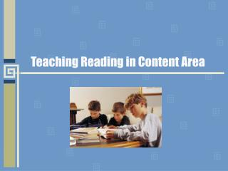 Teaching Reading in Content Area