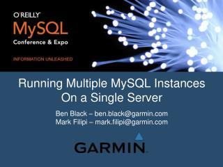 Running Multiple MySQL Instances On a Single Server