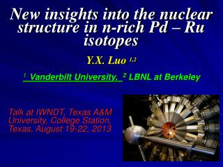 Talk at IWNDT, Texas A&M University, College Station, Texas, August 19-22, 2013