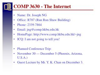 COMP 3630 - The Internet