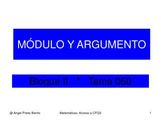 Bloque II   *   Tema 060