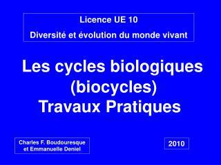 Licence UE 10 Diversit  et  volution du monde vivant