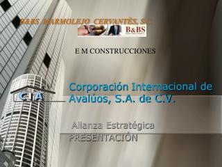 Corporaci n Internacional de Aval os, S.A. de C.V.