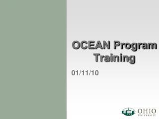 OCEAN Program Training