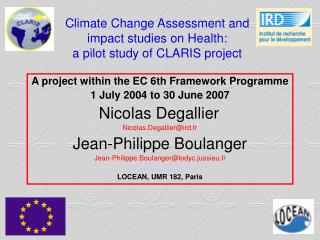 Climate Change Assessment and impact studies on Health: a pilot study of CLARIS project