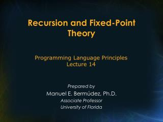 Recursion and Fixed-Point Theory