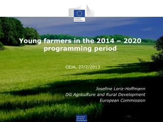 Young farmers in the 2014 – 2020 programming period