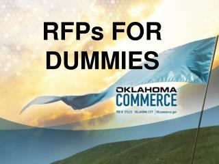RFPs FOR DUMMIES