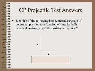 CP Projectile Test Answers