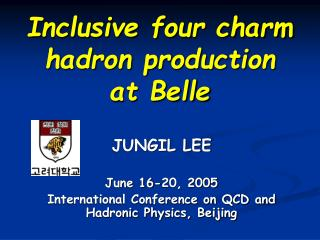 Inclusive four charm hadron production  at Belle
