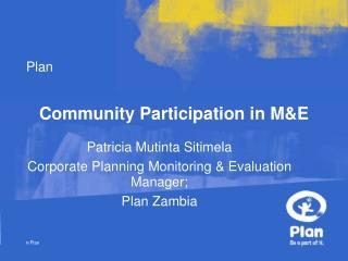 Community Participation in M&E