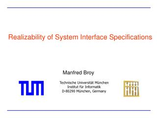 Realizability of System Interface Specifications
