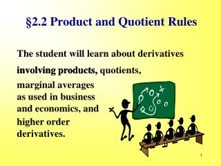 §2.2 Product and Quotient Rules