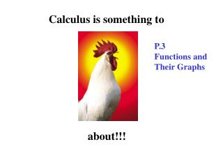 Calculus is something to