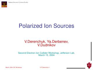 Polarized Ion Sources