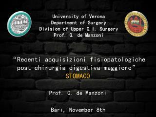 Prof. G. de Manzoni