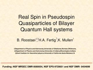 Real Spin in Pseudospin Quasiparticles of Bilayer Quantum Hall systems