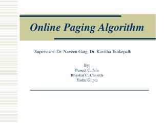 Online Paging Algorithm