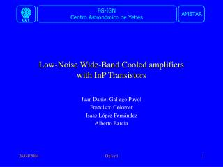Low-Noise Wide-Band Cooled amplifiers  with InP Transistors