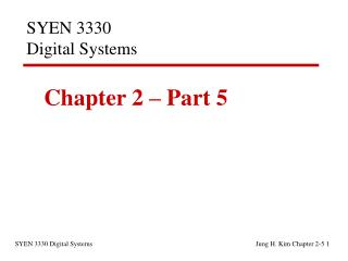 SYEN 3330  Digital Systems