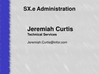 SX.e Administration