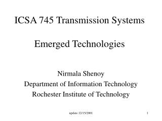 ICSA 745 Transmission Systems Emerged Technologies