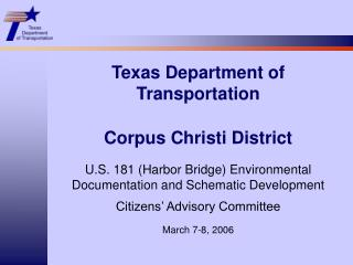Texas Department of Transportation Corpus Christi District