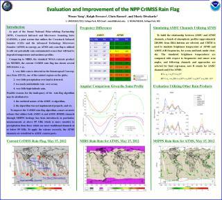 Evaluation and Improvement of the NPP  CrIMSS  Rain Flag