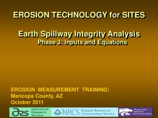 EROSION TECHNOLOGY for SITES