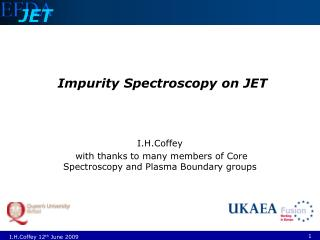 Impurity Spectroscopy on JET