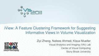 iView: A Feature Clustering Framework for Suggesting Informative Views in Volume Visualization