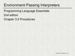 Environment-Passing Interpreters
