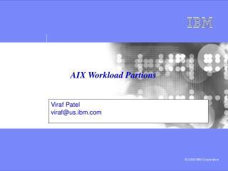 AIX Workload Partions