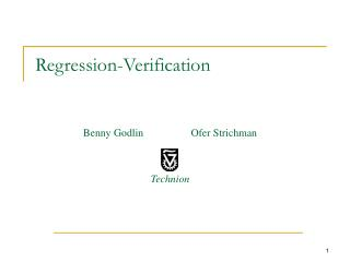 Regression-Verification