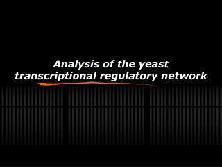 Analysis of the yeast transcriptional regulatory network