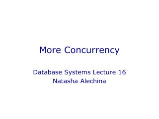 More Concurrency