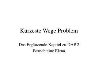 K rzeste Wege Problem