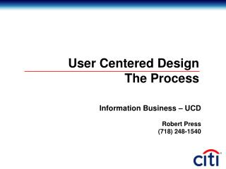 User Centered Design The Process