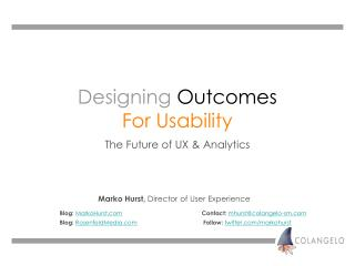 Designing Outcomes For Usability